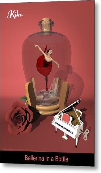 Ballerina In A Bottle - Kiko Metal Print by Alfred Price