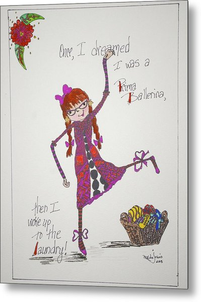 Ballerina Metal Print by Mary Kay De Jesus