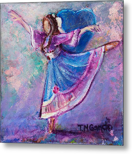 Metal Print featuring the painting Ballerina by TM Gand