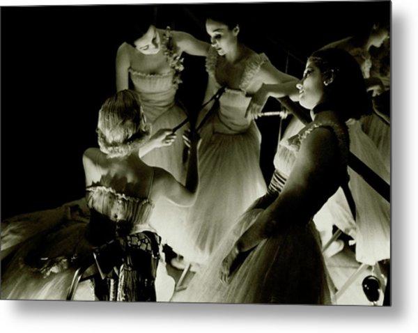 Ballerinas In Radio City Music Hall Metal Print
