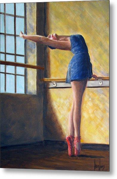 Ballet Dancer Warm Up Metal Print