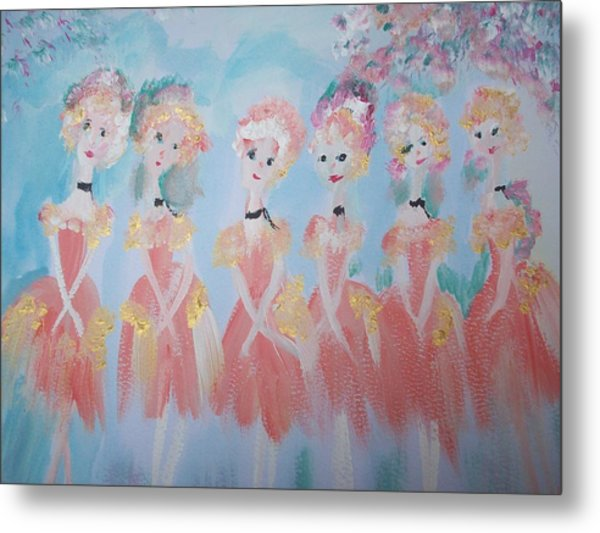 Ballet Group Metal Print
