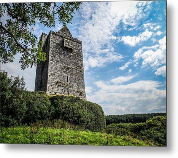 Ballinalacken Castle In Ireland's County Clare Metal Print