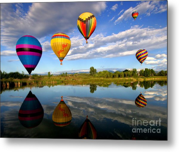 Balloon Horizon Metal Print