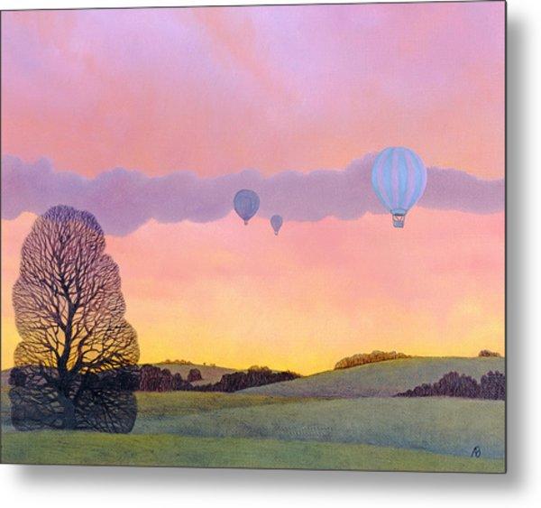 Balloon Race Metal Print