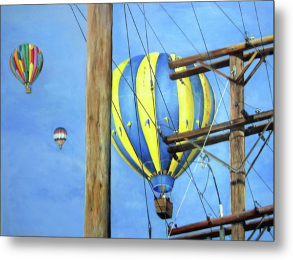 Balloon Race Metal Print