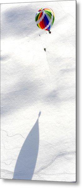 Balloon Snow Shadow Metal Print by Stephen Richards