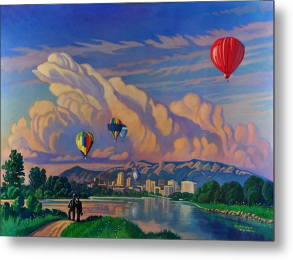 Ballooning On The Rio Grande Metal Print