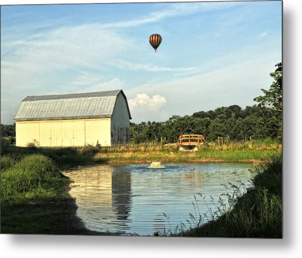 Balloons And Barns Metal Print