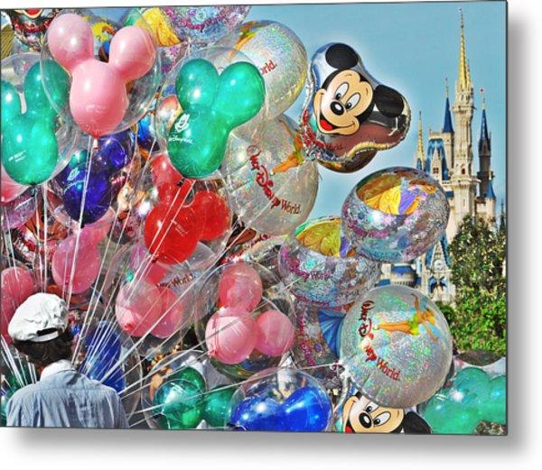 Balloons Down Main Street Metal Print by Rachael M
