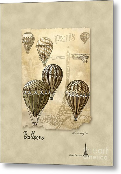 Balloons With Sepia Metal Print