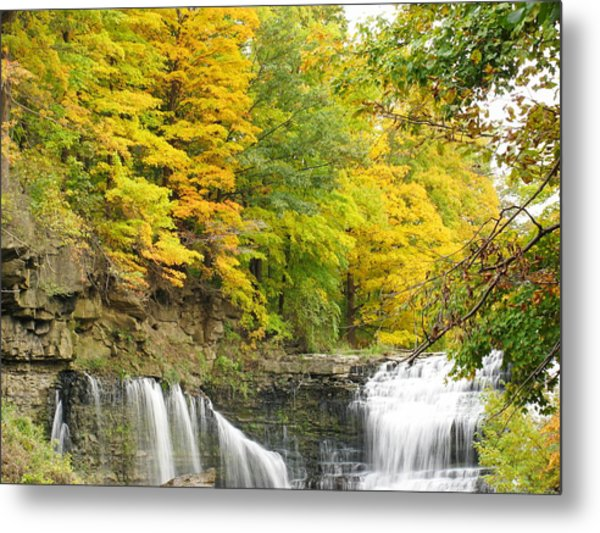 Balls Falls In Autumn Color Metal Print
