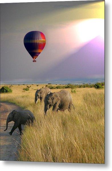 Baloon Safari Metal Print