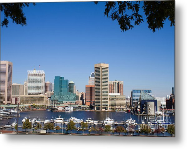 Baltimore Harbor Skyline Metal Print