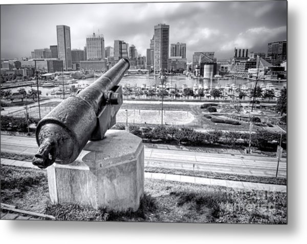 Metal Print featuring the photograph Baltimore Inner Harbor Skyline by Olivier Le Queinec
