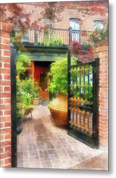 Baltimore - Restaurant Courtyard Fells Point Metal Print