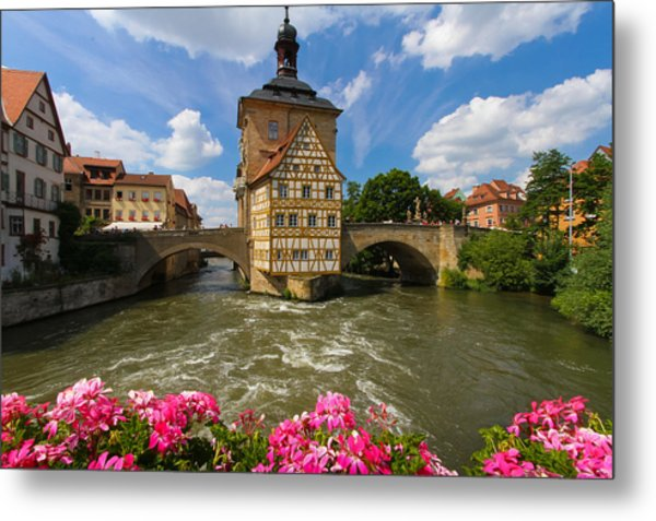 Bamberg Bridge Metal Print
