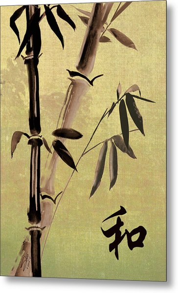 Bamboo Harmony Metal Print