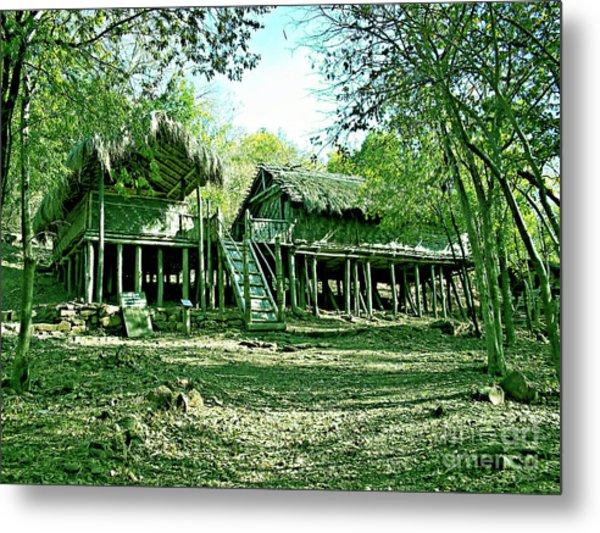 Bamboo House Metal Print by Ankit Sagar