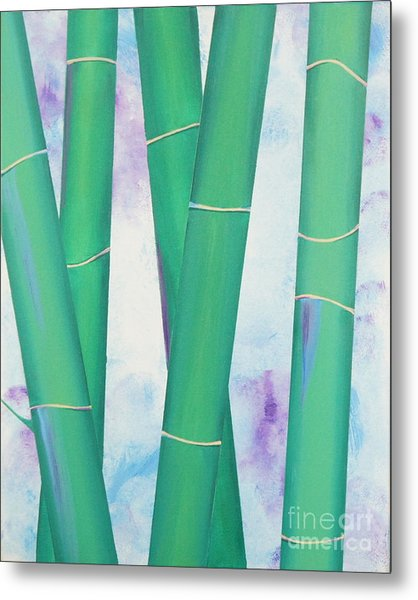 Bamboo Tryptych 2 Metal Print