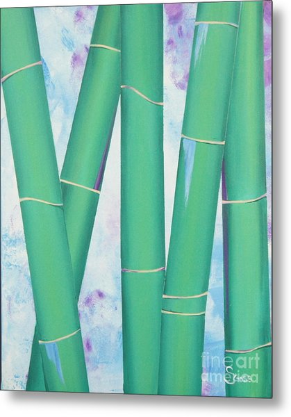 Bamboo Tryptych 3 Metal Print