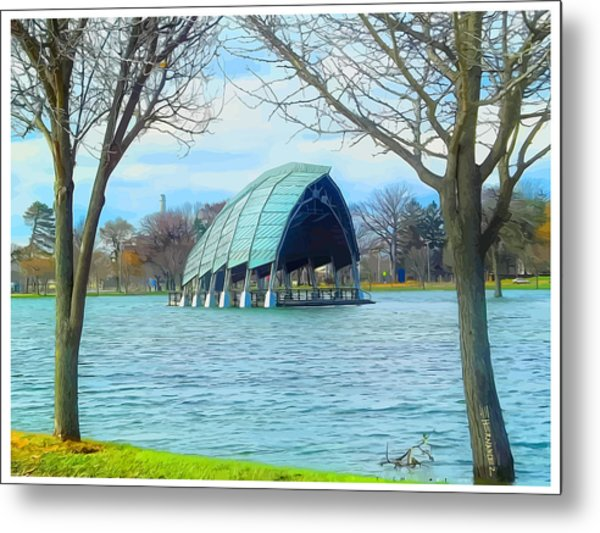 Band Shell After Hurricane Sandy Metal Print by Ed Hernandez