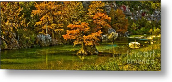 Bandera Falls On Medina River Metal Print