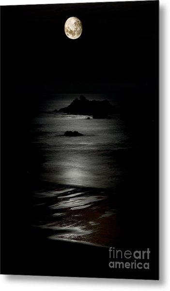 Bandon Moonset Metal Print