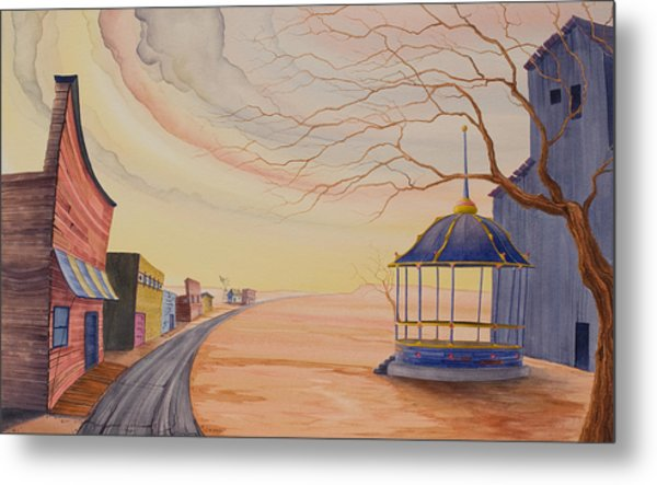 Metal Print featuring the painting Bandstand by Scott Kirby