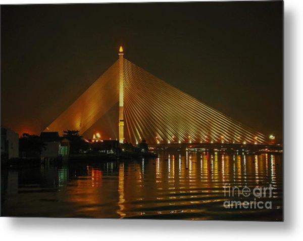 Bangkok By Night Metal Print