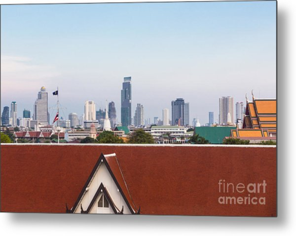 Bangkok Modern Vs Traditional Metal Print