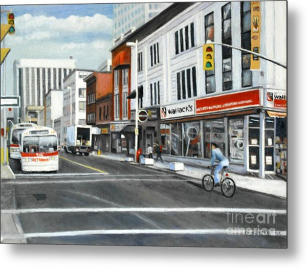 Bank Street Ottawa Metal Print