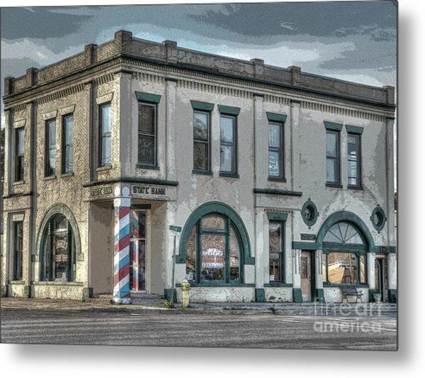 Bank To Barbershop Metal Print