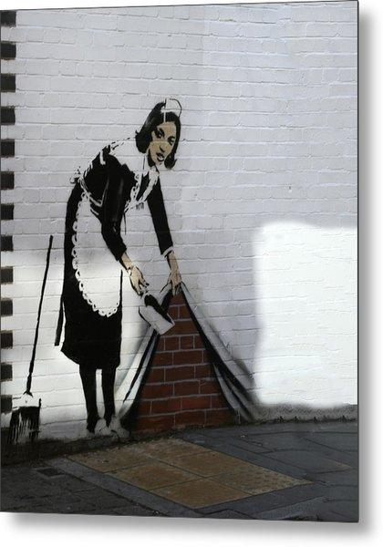 Banksy Maid Metal Print