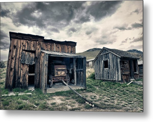 Bannack Carriage House Metal Print