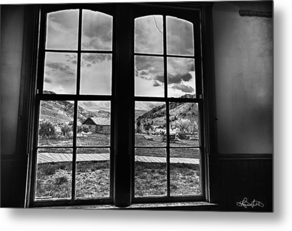 Bannack Window Metal Print