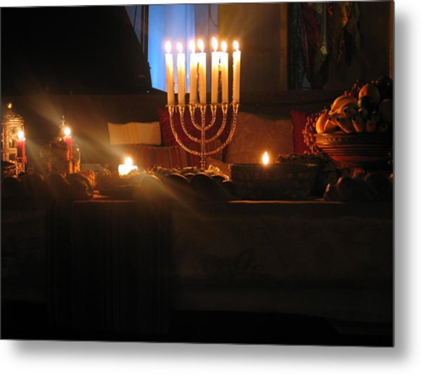Banqueting Table Metal Print by Mark C Ettinger