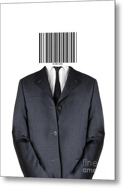 Bar Code Man Metal Print by Shawn Hempel