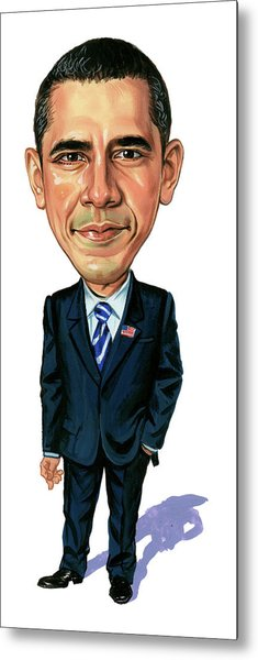 Barack Obama Metal Print by Art