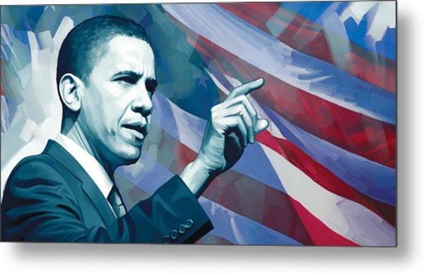 Barack Obama Artwork 2 Metal Print