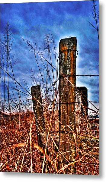 Metal Print featuring the photograph Barb Wire Fences by William Havle
