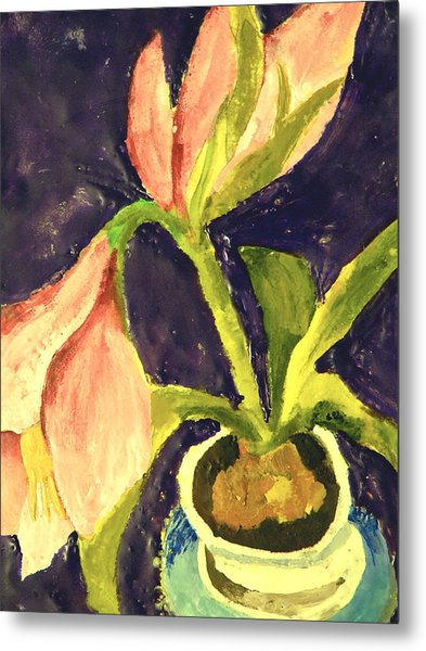 Barbara's Lily Metal Print by Valerie Lynch