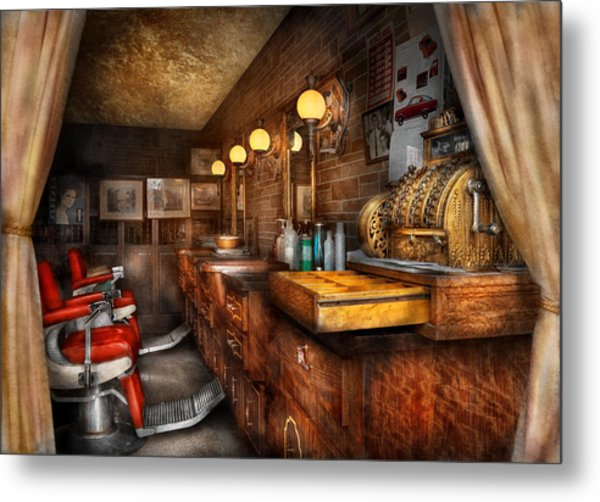 Barber - Closed On Sundays Metal Print