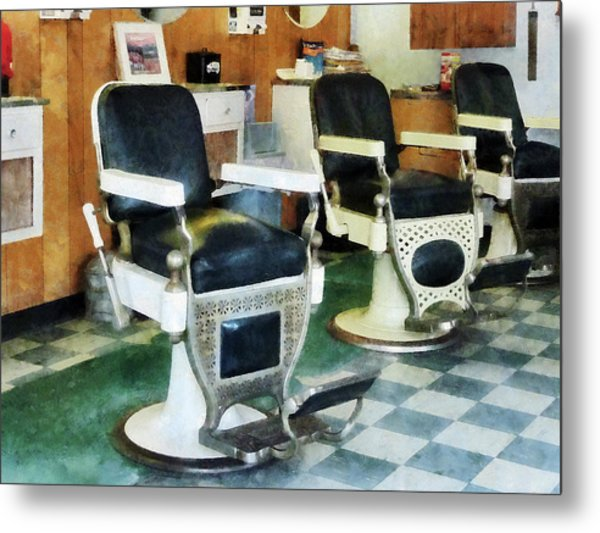 Barber - Corner Barber Shop Metal Print