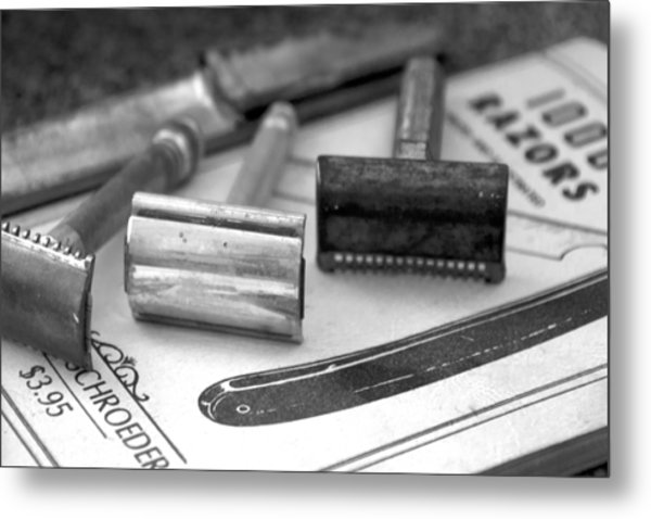 Barber Shop 20 Bw Metal Print