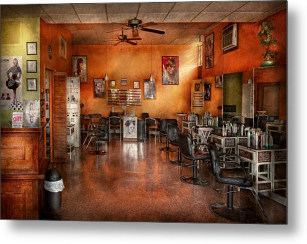 Barber - Union Nj - The Modern Salon  Metal Print