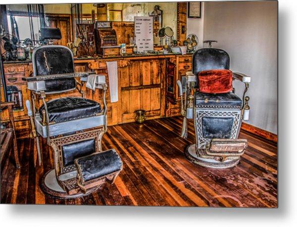 Barbershop Metal Print