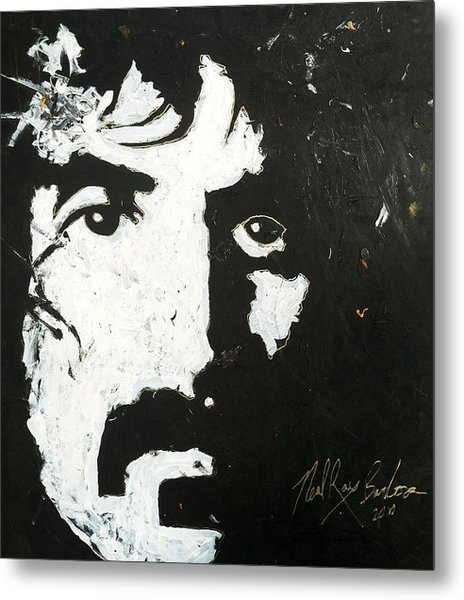 Barbosa Paints Zappa Metal Print