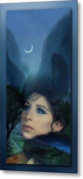Barbra's Smiling Moon Metal Print