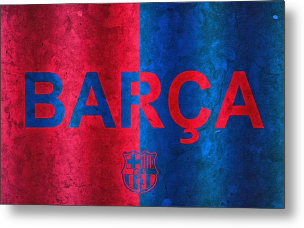 Barcelona Football Club Poster Metal Print